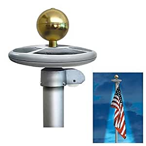 com 20 led solar powered garden decor light top flag pole flagpole. Black Bedroom Furniture Sets. Home Design Ideas