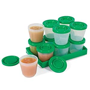 Stay-Fresh Baby Food Containers 12-Pack