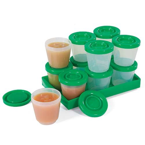 Fresh N Freeze 2 oz. Reusable Baby Food Containers 12-Pack