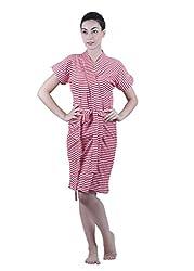 Vixenwrap Womens Bath Robe(Red_Freesize)