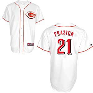 Todd Frazier Cincinnati Reds Home Replica Jersey by Majestic by Majestic