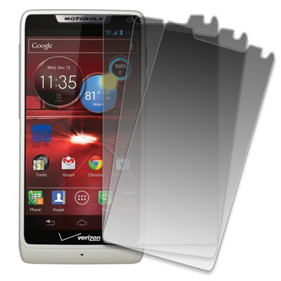 Motorola DROID RAZR M Screen Protector Cover, MPERO Collection 3 Pack of Matte Anti-Glare Screen Protectors for Motorola DROID RAZR M XT907