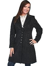 Scully Women\'s Chenille Frock Coat Black 16