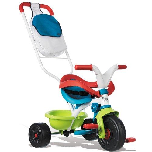 Smoby Dreirad Be Move Confort mit 3 Jahre Herstellergarantie, für Kinder ab 10 M // Kinder Baby Trike Kinderdreirad Schubstange Schiebestange ab 10 Monaten