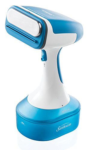 Review Sunbeam Hand Held Garment Steamer W/10' 360 Degree Swivel Cord for Tangle-Free Steaming, GCSB...