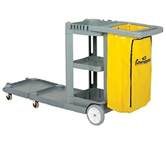 Continental 186GY, Grey Convertible Janitorial Cart (Case of 1)