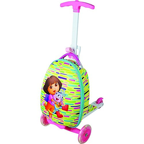 Nickelodeon Kids Dora Scootie 'Friends' Multi-color Scooter Upright Hardsided Suitcase, Checkpoint-Friendly, Convertible, Locking, Multi-Compartment, Telescoping Handle (Upright Scooter compare prices)