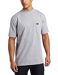 RIGGS WORKWEAR by Wrangler Men's Pocket T-Shirt, Ash Heather, Medium