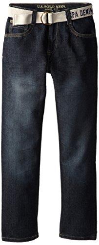 U.S. Polo Assn. Big Boys' 5 Pocket Jean, Blue, 12