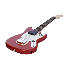 Rock Band 3 Wireless Fender Mustang PRO-Guitar Controller for Wii: Nintendo Wii: Video Games