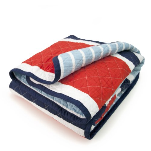 CoCaLo Mix & Match Deck Stripe Coverlet, Connor