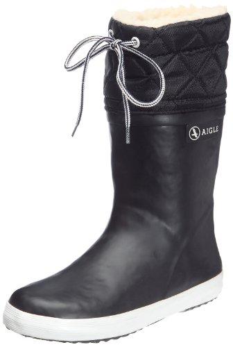 Aigle Giboulee,Stivali da pioggia unisex bambini, Nero, 30