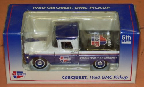 Limited Edition Die Cast Car Quest Auto Parts 1960 GMC Pickup Truck 5th In A Series Lockable Coin Bank