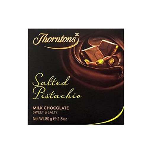Thorntons Salted Pistachio Chocolate Block (80g) (Pack of 2) (Thornton Chocolate compare prices)