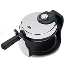 Oster 3874 Flip Nonstick Belgian Waffle Maker Chrome/Black
