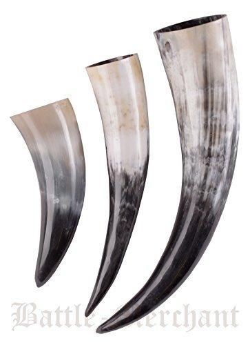 A bere Horn in vera Horn circa 0,4 litro - in vero corno dentro King per bevande media età, stile medievale vichingo