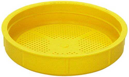 The Sprout House Yellow Sprouting Lid for Wide Mouth Mason Jar BPA FREE ,1.6 Ounce