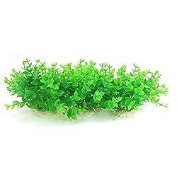 Fish Tank Artificial Aquatic Plant Deocr 5-inch High 3 Pcs Green