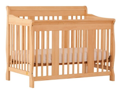 Stork Craft Tuscany 4-In-1 Convertible Crib, Natural