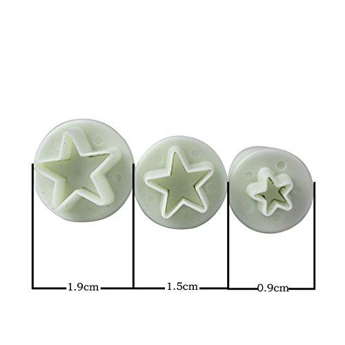 Aufsätze für Spritztüte / Spritzbeutel, für Sahne Dekoration für Torten, sternförmig, 3 Stück