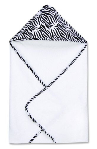 Trend Lab Zebra Print Hooded Towel, Zahara - 1