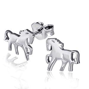 Goldmaid Damen-Charmohrstecker 925 Sterlingsilber Pferde Ch O4116S