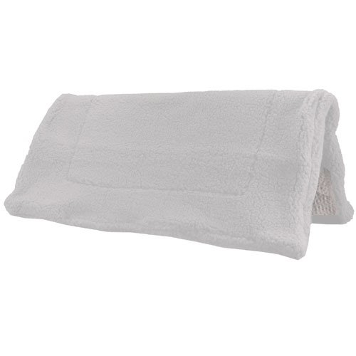 Intrepid International Western Fleece Pad with Non Slip Bottom, White
