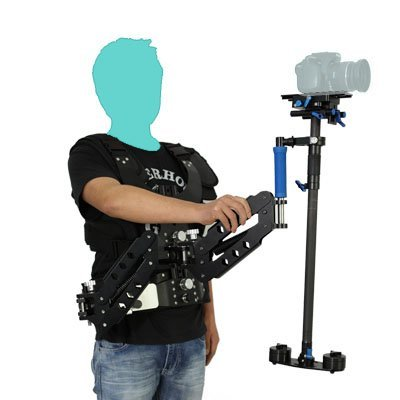 TARION Load Vest With Double Arm + 1.2 meter Stabilizer for HDSLR / DSLR / Camcorder / Camera Shoulder Load Vest Rig / Double Handle Arm DSLR Video Support New