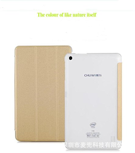 CHUWI Hi8 Pro / Vi8 Plus case, KuGi ® CHUWI Hi8 Pro / Vi8 Plus case - Multi-Angle Stand Slim-Book PU Leather Cover Case for CHUWI Hi8 Pro / Vi8 Plus tablet.(Gold)