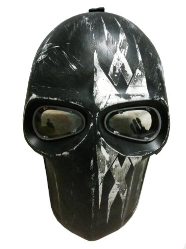 New Unique Handmade The Triple X Paintball Airsoft BB Gun Mask Black White Army PROTECTIVE GEAR OUTDOOR SPORT And Fancy Party Ghost Masks.
