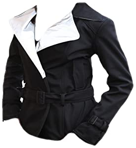 GoGo Gear Women's Trench Motorcycle Jacket (Black, Size 14)