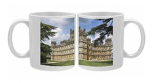 Photo Mug Of Highclere Castle, Home Of The Earl Of Carnarvon, The 5Th Earl Famous For His