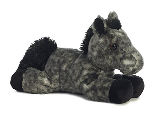"Storm Black Horse Mini Flopsie 8"" by Aurora"