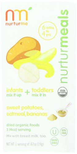 Nurturme Organic Baby Food Pouches, Sweet Potatoes, Oatmeal, Bananas, 6 Count (Pack Of 48)