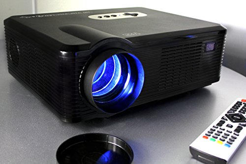 720P LED LCD Video Projector, Fugetek FG-857, Powerful Home Theater Cinema, Extended Life LED Lamp, Features Multi Inputs - 2-HDMI, 2-USB, VGA, YPBPR, 1280x800 Native Resolution, HD Capable, Black, Sleek Design, US Support & Warranty
