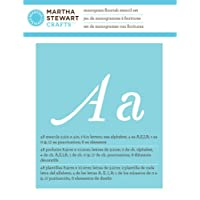 Martha Stewart 32988 Alphabet Stencil Monogram Flourish By Martha Stewart