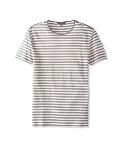 John Varvatos Collection Men's Short Sleeve Striped Crew Neck T-Shirt