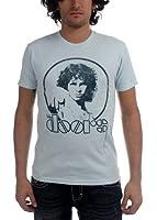 The Doors - - Punkt 30/1 Enzyme Wash Männer Kurzärmeliges T-Shirt in hellblau