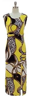 Gold Chain & Cheetah Side Slit Maxi D…