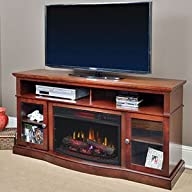 ChimneyFree Walker Infrared Electric Fireplace Entertainment Center in Cherry – 25MM5326-C245