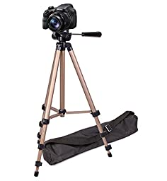 DURAGADGET Sturdy Professional Lightweight Aluminium Tripod for the Sony DSC-H300 / H300 Digital Compact Camera - Black (20.1MP, 35x Optical Zoom) & Sony NEX-5RK