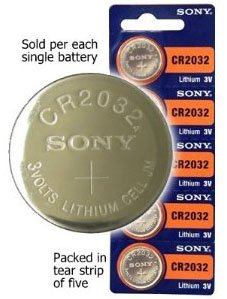 Strip of 5 Genuine Sony CR2032 3v Lithium 2032 Coin Batteries Freshly Packed by Sony