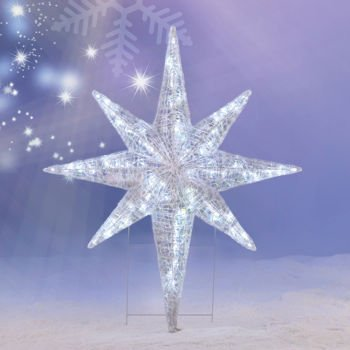 CHRISTMAS 4' LED LIGHTED STAR OF BETHLEHEM OUTDOOR HANGING PROP DECORATION