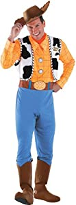 Disguise Toy Story Unisex Adult Deluxe Woody, Multi, XX-Large (50-52) Costume