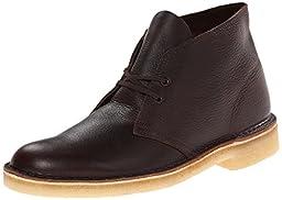 Clarks Men\'s Desert Chukka Boot,Brown Tumbled Leather,10 M US