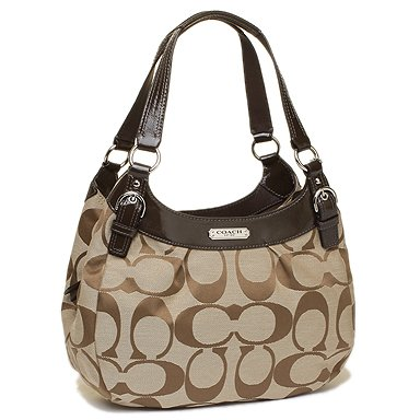 Coach Soho Signature Hobo Khaki Bag F19445