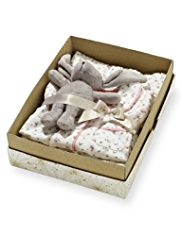 Pure Cotton Floral Pyjamas with Toy in Gift Box