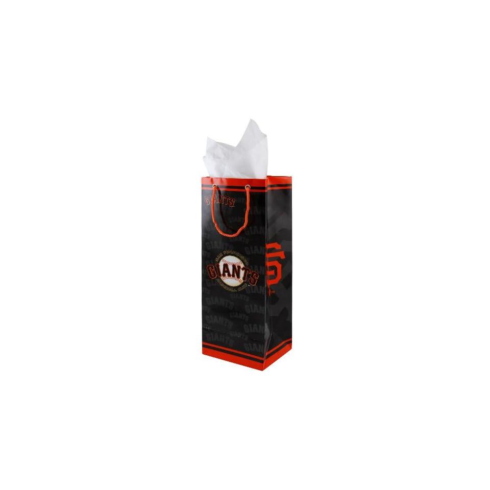 San Francisco Giants Black Bottle Gift Bag
