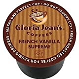Gloria Jeans French Vanilla Supreme Coffee,Regular - Medium - K-Cup - 24 / Box