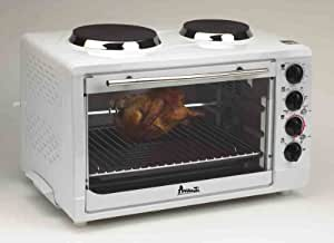 Avanti OCRB43W Oven with Convection, Rotisserie, Two Cook Top Burners
